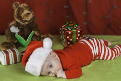 Baby Christmas Portrait Royalty Free Stock Photography