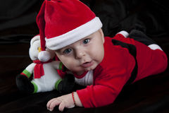 Baby Christmas Santa Stock Photos