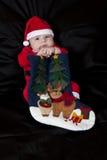 Baby Christmas Santa Stock Image