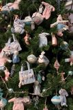 Baby christmas tree detail Stock Image