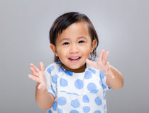 Baby clap hand Stock Images