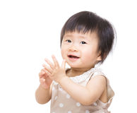 Baby clapping hand Stock Photography