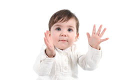 Baby clapping happy Royalty Free Stock Photos