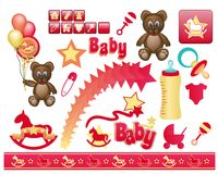 Baby clip arts Stock Image