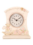 Baby clock for nursery. Studio cutout Royalty Free Stock Photography
