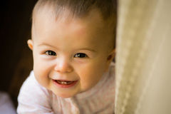 Smiling baby close up Stock Images