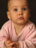 Baby closeup. Portrait royalty free stock photography