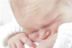 Baby closeup Stock Photography