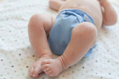 Baby in Cloth Diaper Royalty Free Stock Photo