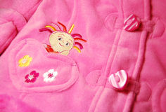 Baby clothes. Pink clothes for new born baby Stock Photo