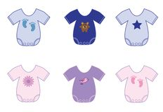 Baby Clothes. Cute baby boy girl clothes Royalty Free Stock Photo
