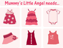 Baby clothes. Mummy's little angel needs Stock Photography