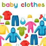 Baby clothes. Background with clothing items for Royalty Free Stock Photography