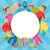 Baby clothes. Background with clothing items for Royalty Free Stock Photos