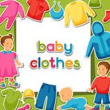 Baby clothes. Background with clothing items for Stock Images