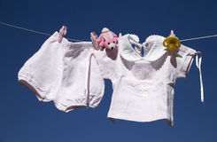 Baby clothes Stock Images