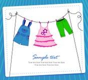 Baby clothes card boy Stock Image