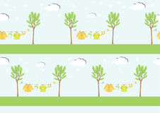 Baby clothes on clothespin ,seamless pattern ,Vector illustrations Royalty Free Stock Photos