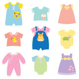 Baby Clothes Collection. Illustration of baby and children clothes collection Royalty Free Stock Images