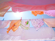Baby Clothes drying rack Stock Photos