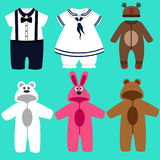 Baby clothes. Funny clothes. Stock Image