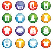 Baby clothes icon set. Baby clothes  icons for user interface design Stock Photo