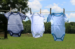 Baby Clothes on a Line Royalty Free Stock Image
