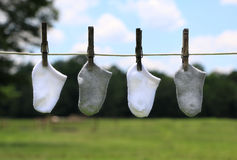 Baby Clothes on a Line Royalty Free Stock Photo