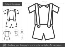 30d9a2b8a33f Baby Clothes Line Stock Illustrations – 2