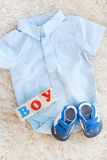Baby clothes for newborn. In pastel colors Stock Images