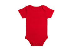 Baby clothes Red Stock Images
