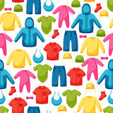Baby clothes. Seamless pattern with clothing items Royalty Free Stock Photo
