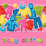 Baby clothes. Seamless pattern with clothing items Stock Photography