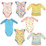 Baby clothes set royalty free stock photos
