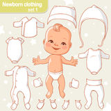 Baby clothes set Royalty Free Stock Image