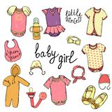 Baby clothes set vector illustration
