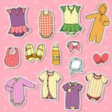 Baby clothes set royalty free illustration