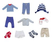 Baby clothes set Royalty Free Stock Images
