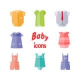 Baby clothes. Vector. Stock Photos