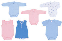 Baby clothes. Wear isolated on white background royalty free stock photo