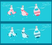 Baby clothesline banners Royalty Free Stock Images