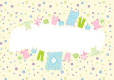 Baby clothing frame Stock Photo