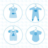 Baby clothing set Royalty Free Stock Photos