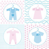 Baby clothing set Stock Photo