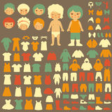 Baby clothing silhouette Royalty Free Stock Photos