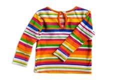 Baby clothing on white macro Stock Image