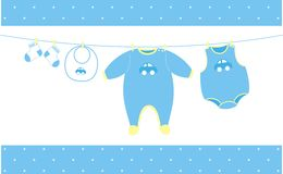 Baby cloths hanging Royalty Free Stock Photography