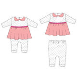Baby cloths set, baby girl outfit Stock Photos