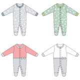 Baby cloths set, baby girl outfit Royalty Free Stock Images
