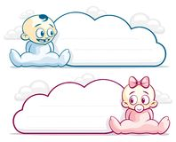 Baby Cloud Blank Stock Image